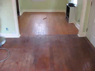 Mr sandless can change the colour and tone of your floor above is a laminate floor where the client desired to even out the overall tone of the floor only the mr sandless service is able to achieve this doublecrazyfo Image collections